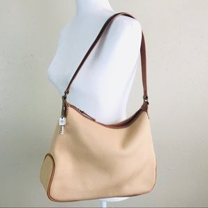 Fossil shoulder bag tan with brown strap